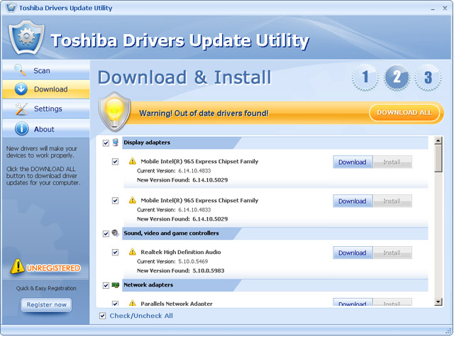 Toshiba Drivers Update Utility - dgtsoft.org