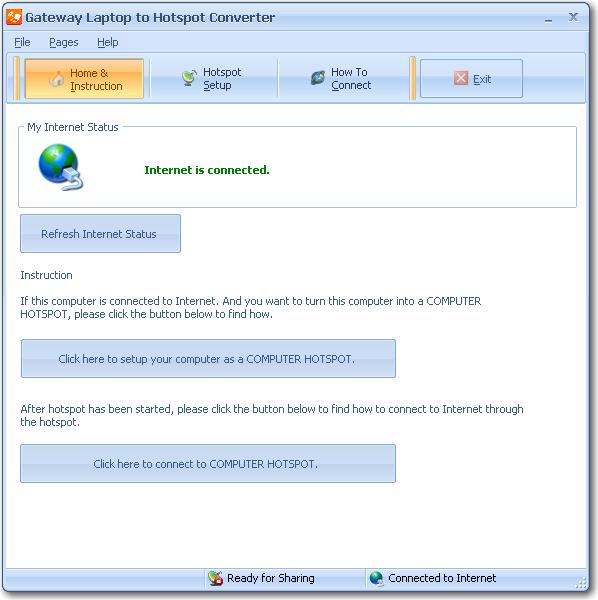 Gateway Laptop to Hotspot Converter - Make your laptop a
